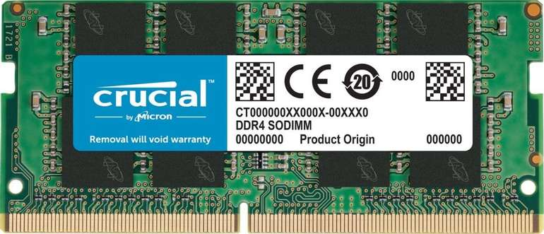 Crucial 32GB DDR4-2666 CL19 RAM (CT32G4SFD8266) für 90,99€ inkl. Versand (statt 117€)
