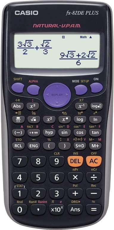 Casio FX-82DE Plus - wissenschaftlicher Taschenrechner für 10€ mit Primeversand (statt 16€)