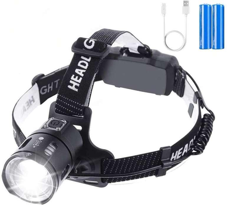 Outerdo wasserdichte Stirnlampe mit 3.500 Lumen & USB-Aufladung für 12,53€ inkl. Prime Versand