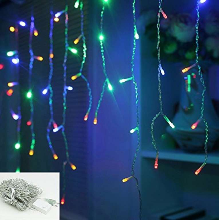 Vingo LED Eisregen Lichternetz mit 400 LEDs und IP44-Schutz für 17,49€ (statt 25€)