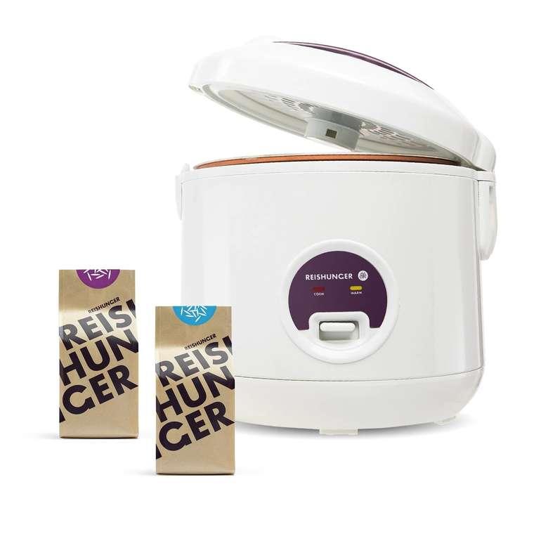 Reishunger Bundle: 500W Reiskocher + Bio Basmati & Jasmin Reis für 29,99€ inkl. Versand