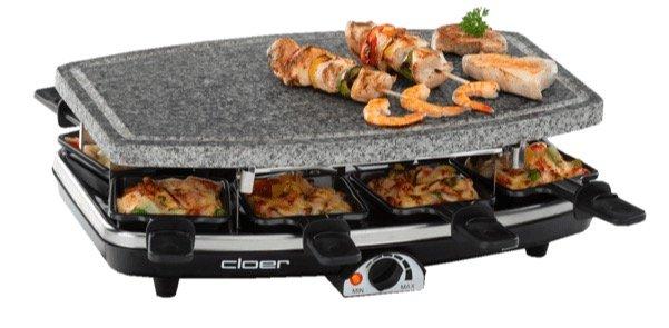 Cloer 6430 Raclette-Grill mit Naturstein, 1200 Watt für 32€ (statt 37€)