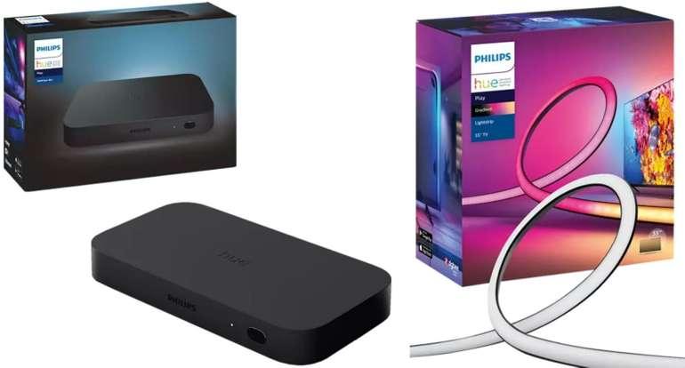 "Bundle: Philips Hue Play Gradient 55"" Lightstrip + Hue Play HDMI Sync Box für 326,72€ inkl. Versand (statt 423€)"