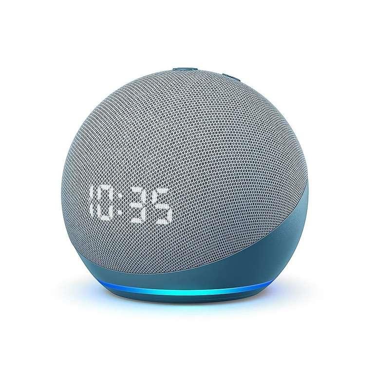 Amazon Echo Dot (4. Gen.) smarter Lautsprecher mit Uhr für 49,99€ inkl. Versand (statt 66€) - Newsletter!