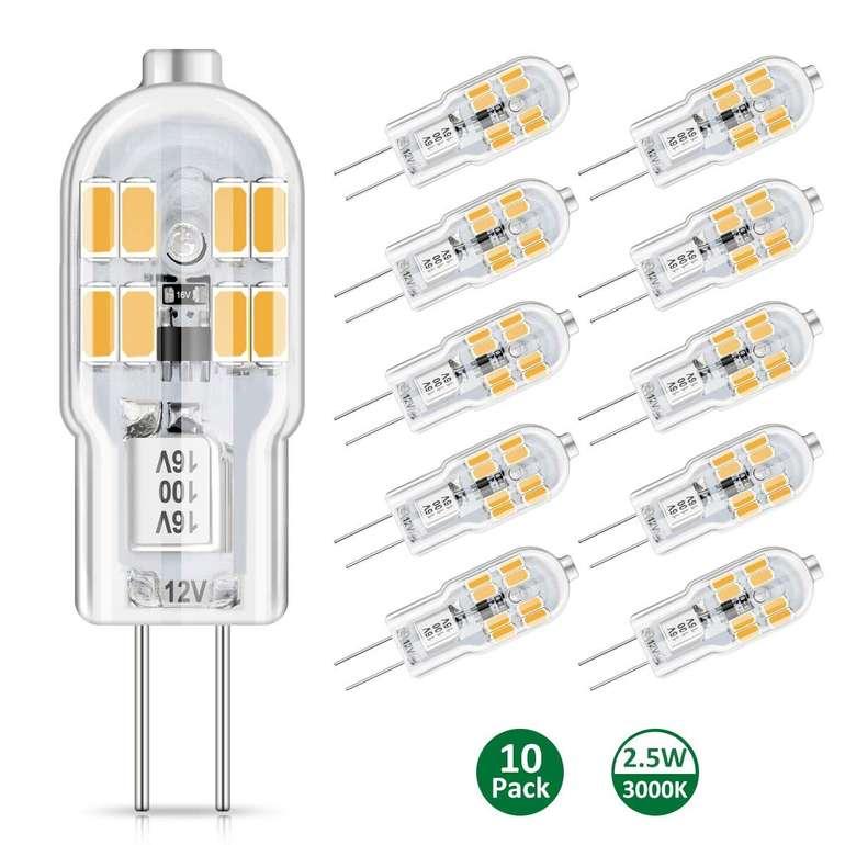 Ambother G4 LED Lampen im 10er Pack (2,5 Watt, 300 Lumen) für 6,99€ inkl. Prime Versand (statt 14€)