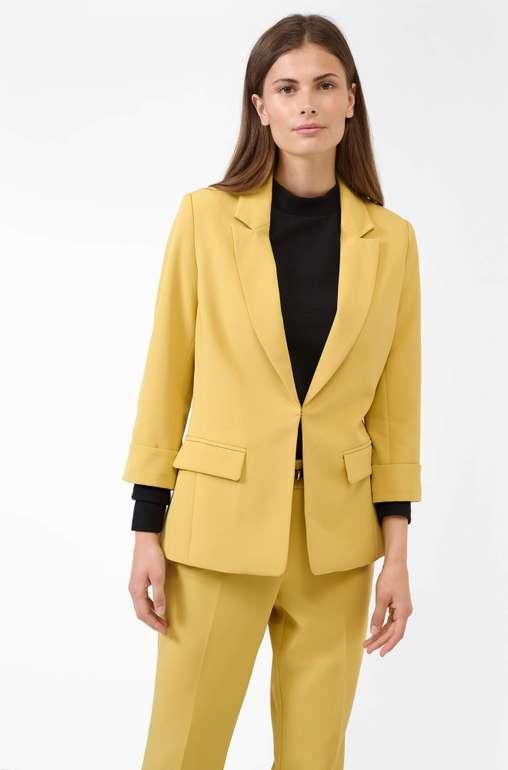 Orsay Back-to-Work: 20€ Rabatt ab 80€ Bestellwert, z. B. 2x Damen Blazer in Gelb für 71,98€ (statt 92€)