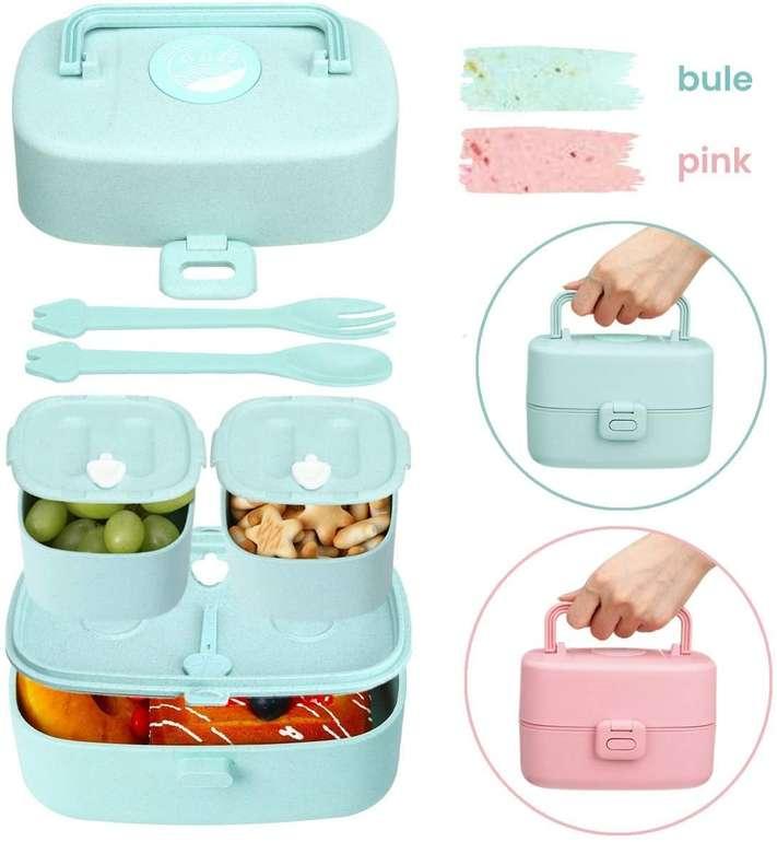 Godmorn Kinder Lunch bzw. Bento Box mit Besteck (860 ml, BPA-frei) in 2 Farben für je 12,17€ inkl. Prime Versand (statt 21€)