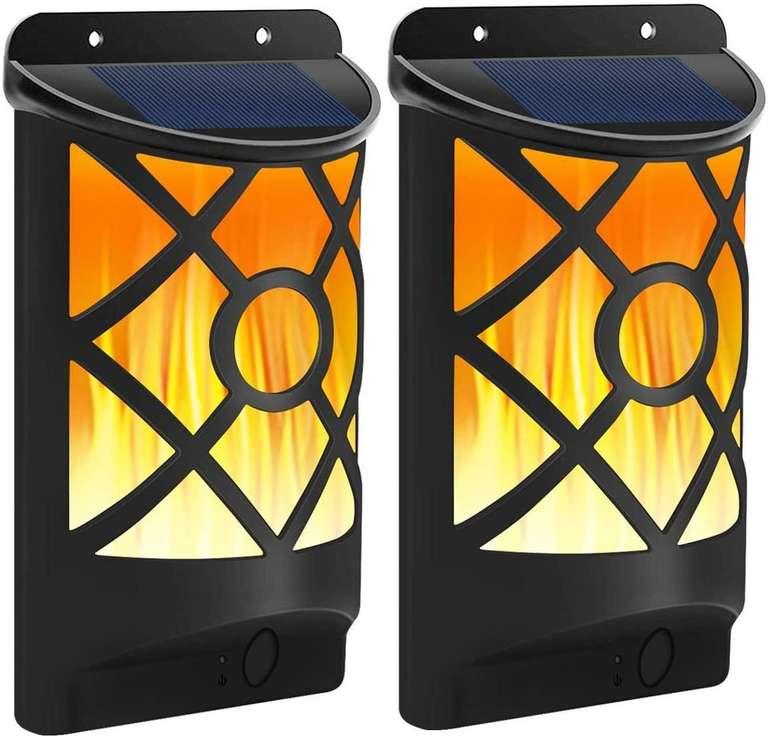 Flowood 2er Pack Solarlampen mit Flammeneffekt für 13,99€ inkl. Prime Versand (statt 28€)
