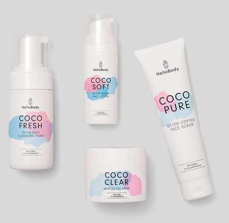 Exklusiver Beauty Deal: Nur heute 50% Rabatt auf alles bei Hellobody - z.B. 4-tlg. Coco Face Set für 57,50€