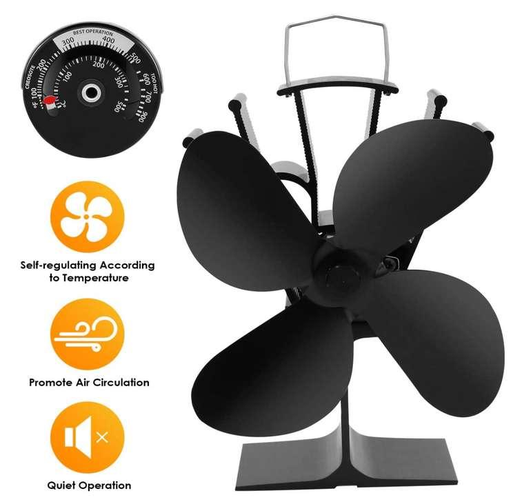 Wolketon Kaminventilator mit 4 Flügeln für 25,86€ inkl. Prime Versand (statt 37€)