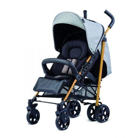 Knorr-Baby Kinderwagen Wood Art in Schwarz/Grau für 88€ inkl. VSK (statt 100€)