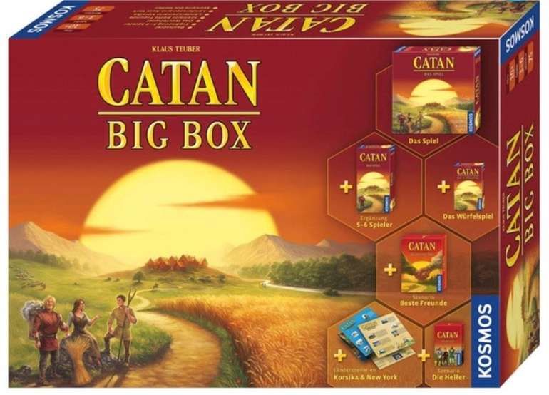 Die Siedler von Catan (Big Box) für 44,99€ inkl. Versand (statt 75€)