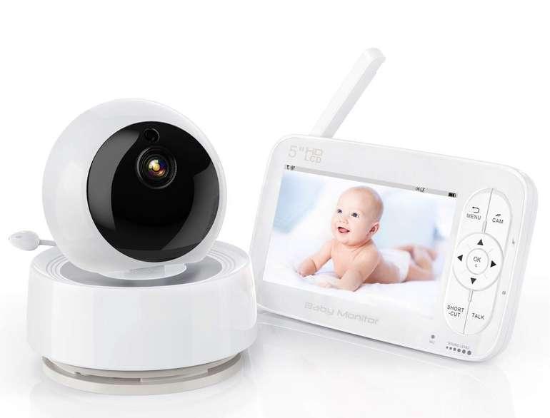 """Yundoo Babyphone mit 5"""" Monitor (1280 x 720P, Nachtsicht, Temperatursensor) für 96,99€ (statt 127€)"""