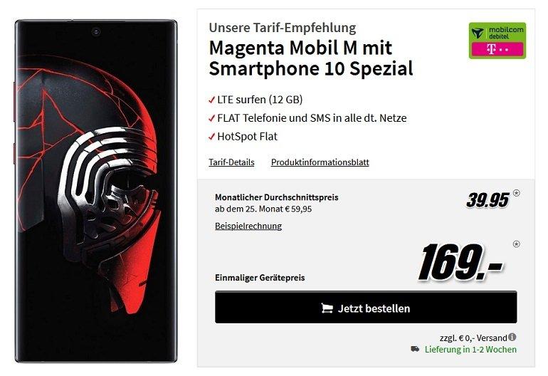 Samsung Galaxy Note10+ Star Wars Telekom Allnet-Flat 12 GB LTE 2