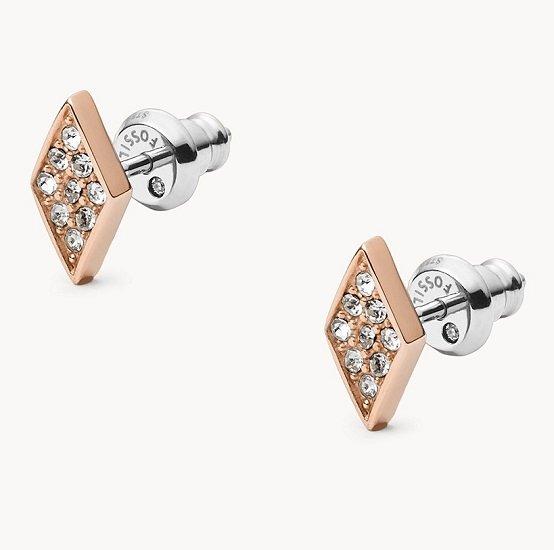 Fossil Damen Ohrstecker Diamond für 10,20€ inkl. Versand (statt 33€)