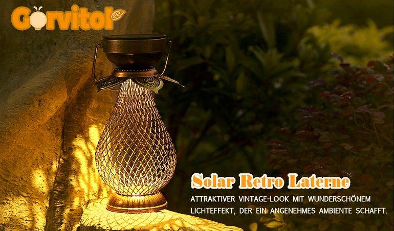 Görvitor Solarlaterne aus Metall 2
