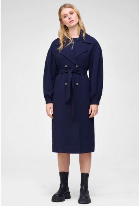 Langer Mantel in Blau für 18,95€ inkl. Versand (statt 70€)