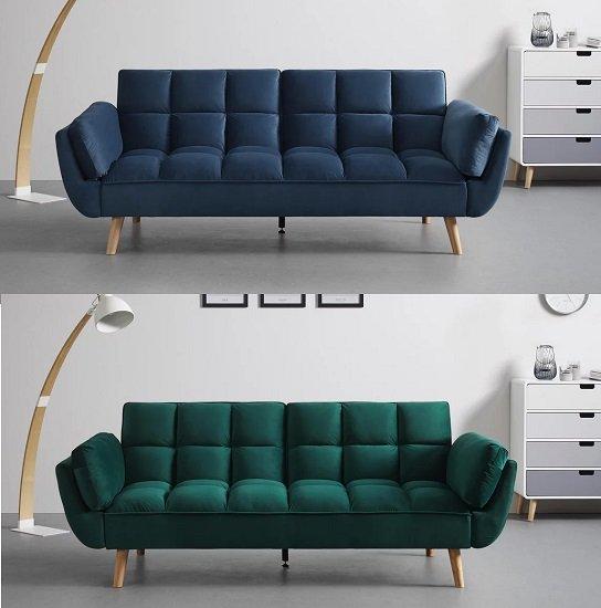 Bessagi Home Schlafsofa Cora in 3 Farben (Blau, Grün, Grau) für je 259,25€inkl. Versand (statt 340€)