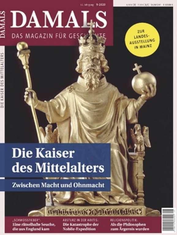 """Zeitschrift """"Damals"""" im Jahresabo für 107,42€ + z.B. 105€ Bestchoice-Gutschein"""