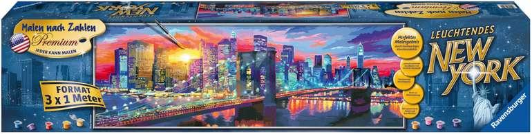 Ravensburger Spiel - Malen nach Zahlen - Leuchtendes New York (3x 1 Meter) für 60,89€ (statt 152€)