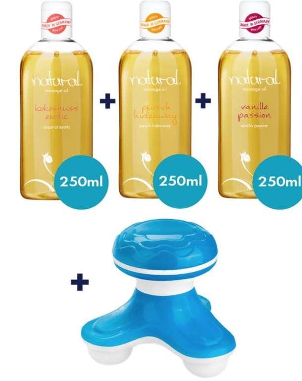 Eis.de: Massagegerät und 3x 250ml Massageöl-Set gratis (MBW: 19,95€) + 6 Gratisartikel