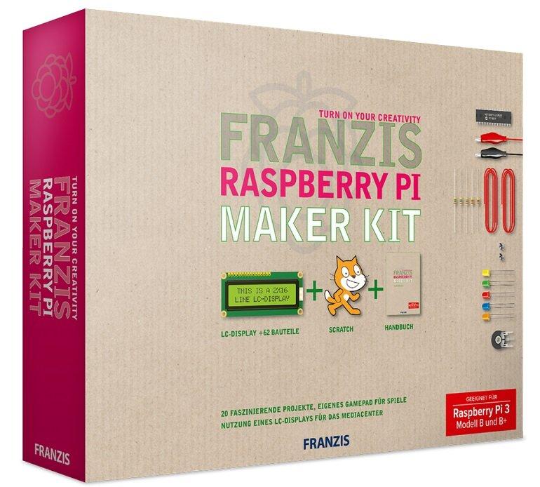Franzis Raspberry Pi Maker Kit (20 verschiedene Projekte + 160-seitiges Handbuch) für 20€ (statt 47€)