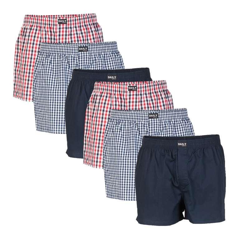 6er Pack DA!LY Underwear Herren Webboxer Boxershorts für 27,99€ inkl. Versand