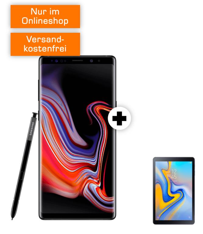 Galaxy Note 9 + Tab A + o2 Free M (20GB LTE, Allnet, SMS-Flat) je 39,99€ mtl.