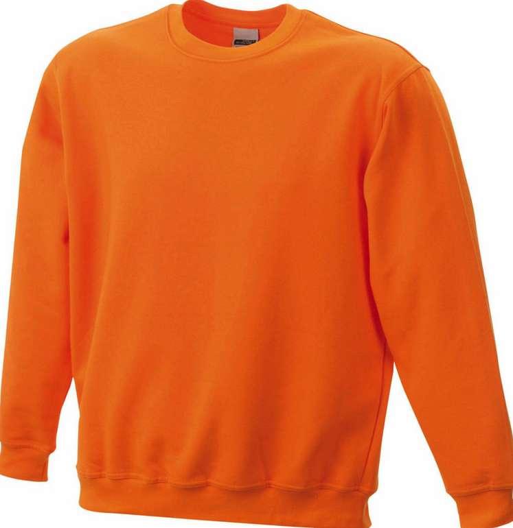 2x James & Nicholson Herren Rundhals Sweatshirt in Orange für 15,83€ inkl. Versand (statt 30€)