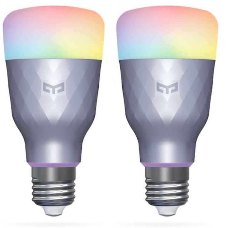 2er Pack Yeelight 1SE - Smarte LED Birnen (E27 6W RGBW AC 100-240V) für 28,50€ inkl. Versand (statt 40€)