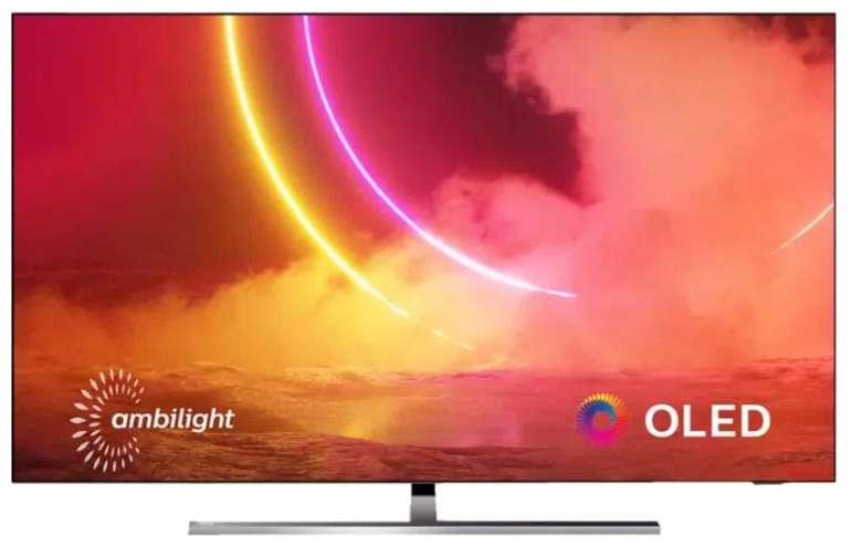 Philips 65OLED855 – 65 Zoll OLED UHD Smart-TV mit 3-seitigem Ambilight für 1.528,90€ (statt 1.849€)