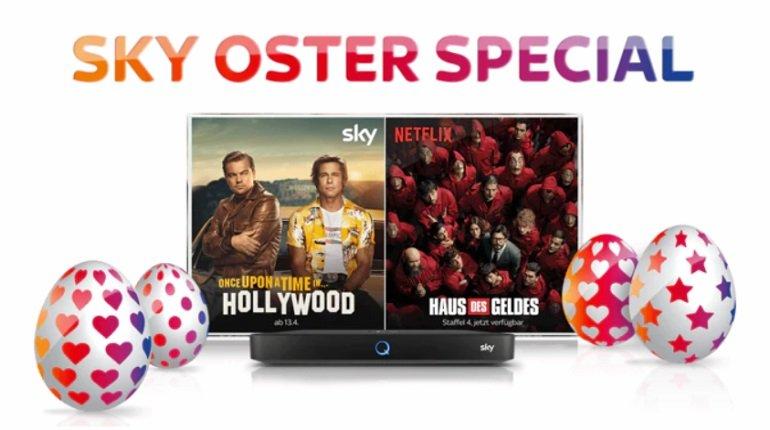Sky Oster Special: Cinema + Entertainment + Netflix (inkl. Sky Q Receiver) ab 24,99€ mtl. (Ohne VSK & Gebühren)