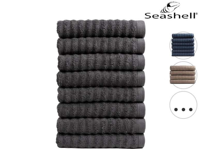 Seashell 8er Pack Handtücher Premium Wave Collection (50 x 100cm) für je 25,90€