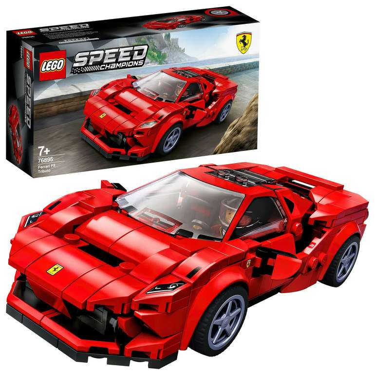 Lego Speed Champions (76895) Ferrari F8 Tributo für 14,66€ inkl. Prime Versand (statt 17€)