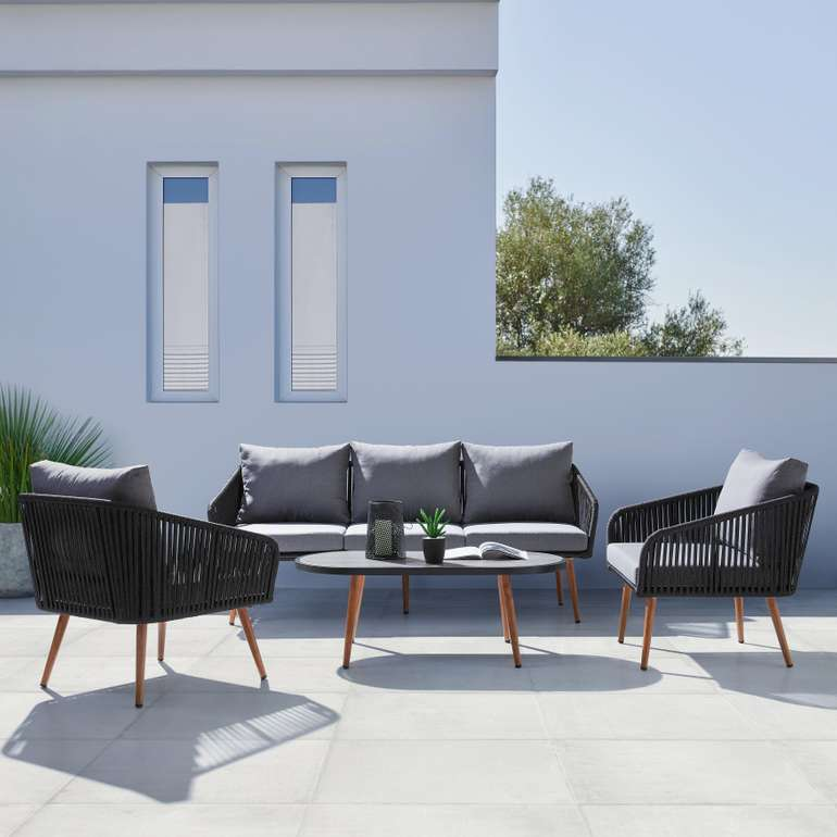 Bessagi Garden Loungegarnitur 'Valentino' in Grau für 489,20€ (statt 640€)
