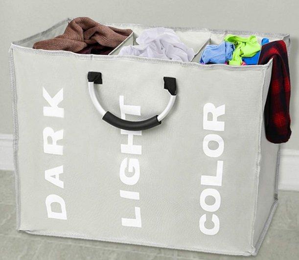 Esonmus - Wäschesack mit 3 Kammern für 11,99€ mit Primeversand (statt 16€)