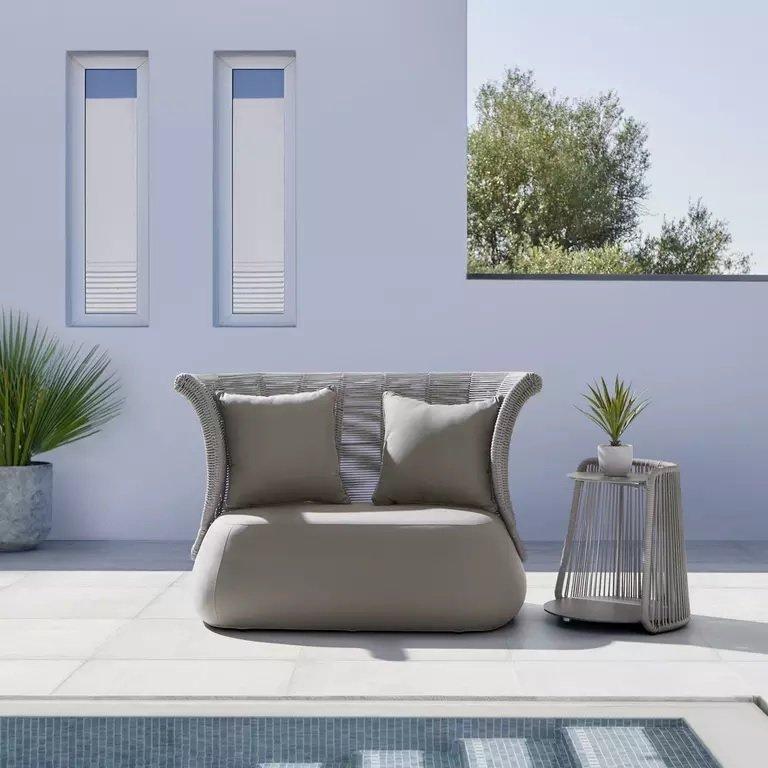 "Bessagi Garden Loungesofa ""Zoe"" inkl. Kissen in grau-braun für 604,36€ inkl. Versand (statt 799€)"