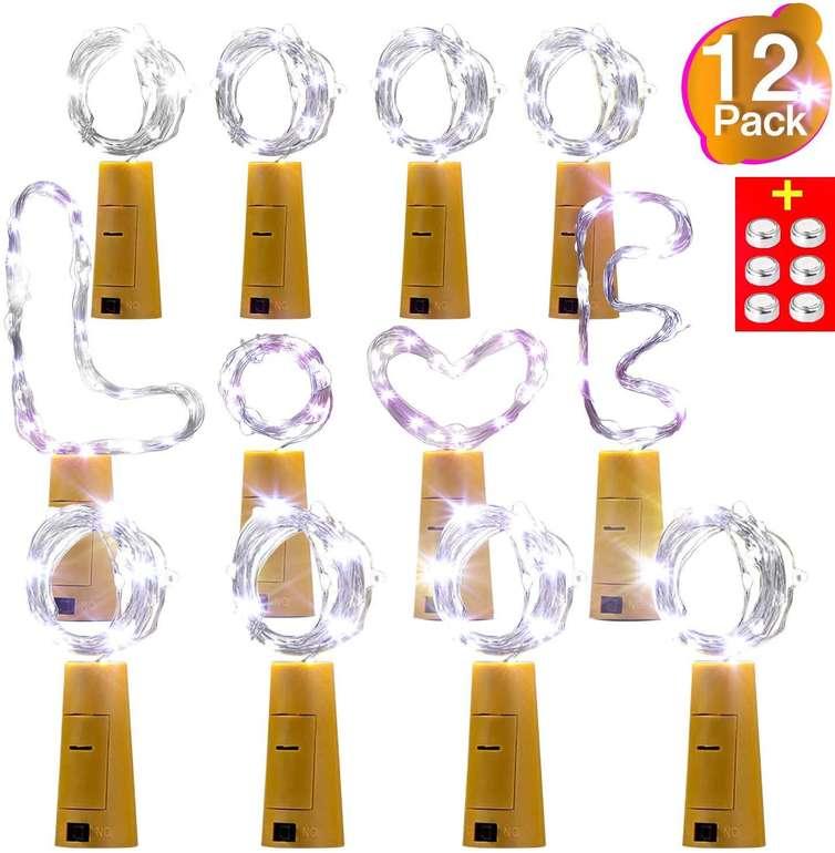 AMZJUPWM - 12er Pack Flaschenlichter für 7,79€ inkl. Prime VSK (statt 13€)