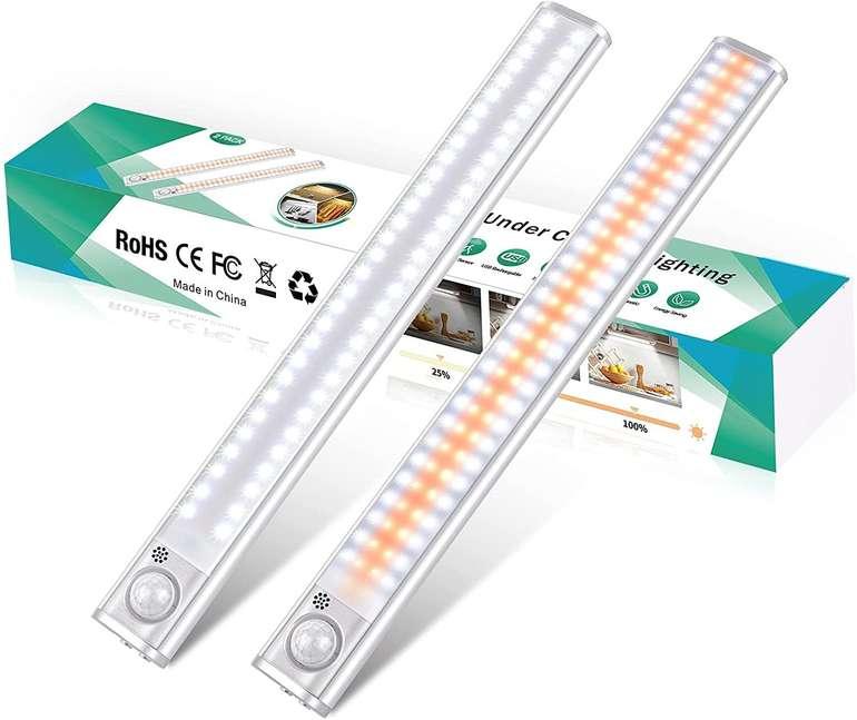 Ceshu 2er Pack LED Schrankleuchten (wiederaufladbar, 4 Modi) für 19,79€ inkl. Versand (statt 33€)