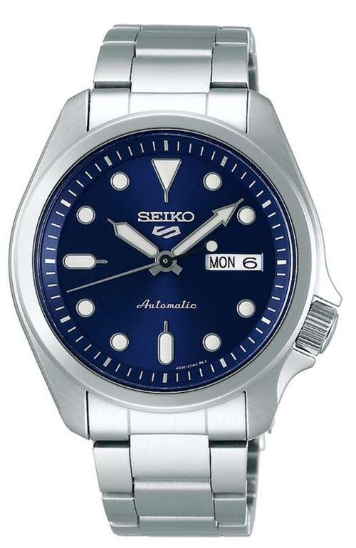 Seiko Herrenuhr Seiko 5 Sports Automatik in silber/blau für 177,33€ inkl. Versand (statt 216€)