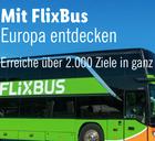 FlixBus Europaticket Einzelfahrt für 12,99€ (Reisezeitraum: 05.11. bis 19.12.)