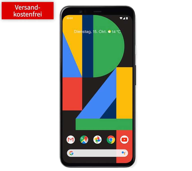 Google Pixel 4 (49€) + Vodafone Allnet Flat mit 6GB LTE für 19,99€ mtl.