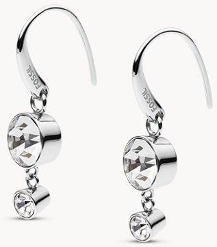"Fossil Damen Ohrringe ""Bezeled Drop"" für 14€ inkl. Versand (statt 38€)"