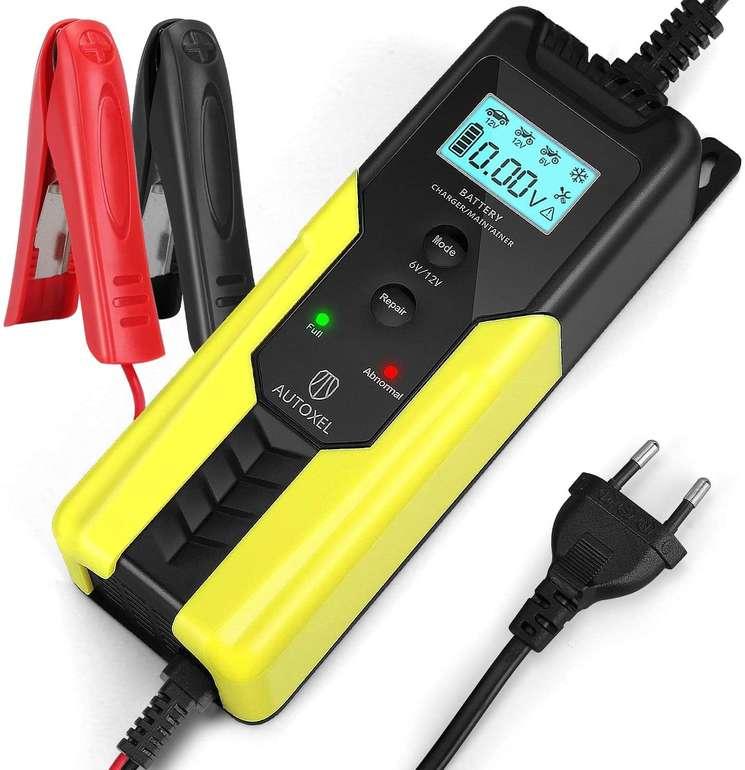2 Produkte bei Amazon reduziert, z.B. Autoxel 6A 6V/12V Autobatterie Ladegerät für 17,99€ (Prime)