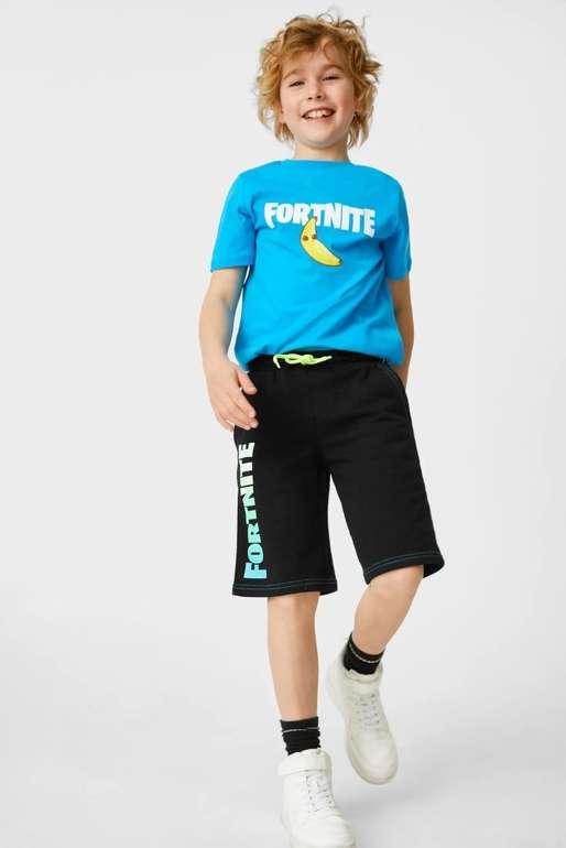 C&A Fortnite Kinder Sweatshorts (Bio-Baumwolle) für 2,50€ inkl. Versand (statt 15€)