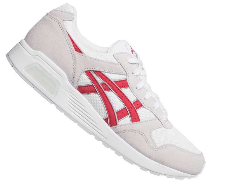 Asics Lyte-Trainer Herren Sneaker in Weiß/Rot für 43,94€ inkl. Versand (statt 62€)