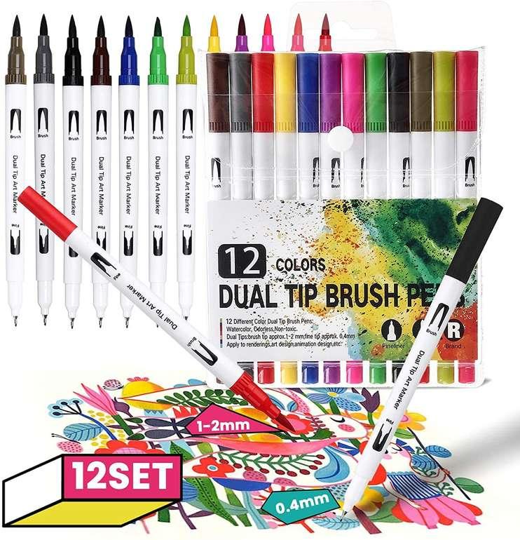 Joseko Art Marker (12 Farben, Wasserbasierte Farbe) für 6,29€ inkl. Prime Versand (statt 10€)