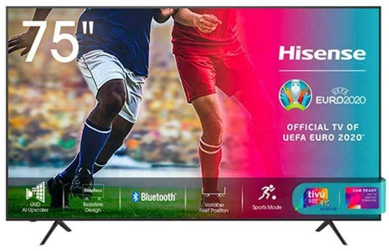 Hisense 75A7120F - 75 Zoll 4K Ultra HD Smart-TV mit WLAN für 692,99€ inkl. Versand (statt 900€)