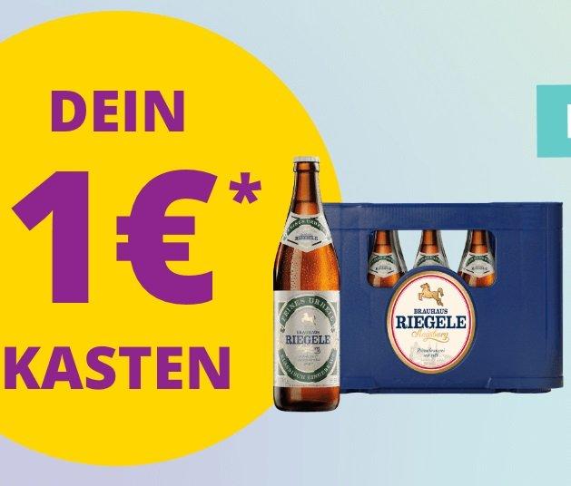 Durstexpress Augsburg: Riegele Feines Urhell 20 x 0.5 Liter für nur 1€ (MBW 15€)