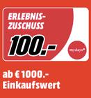 Media Markt Erlebnis Zuschuss mit bis zu 100€ myDays Gutscheinen zum Einkauf
